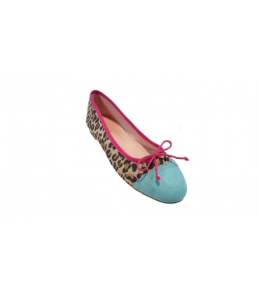 Bailarina Puntera Edith Animal Print Leopardo